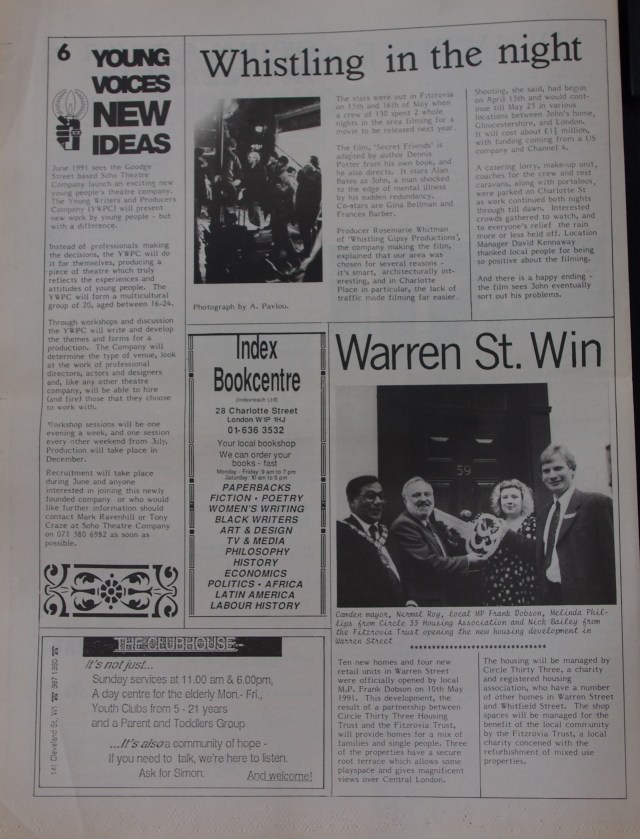 Page 6 Fitzrovia News no 53 June 1991