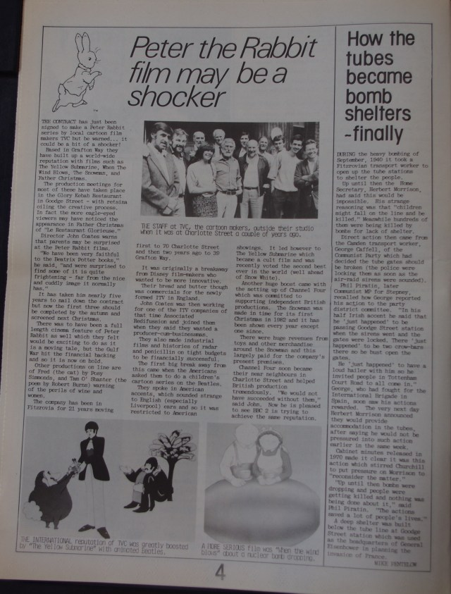 Page 4 Fitzrovia News no 56 March 1992