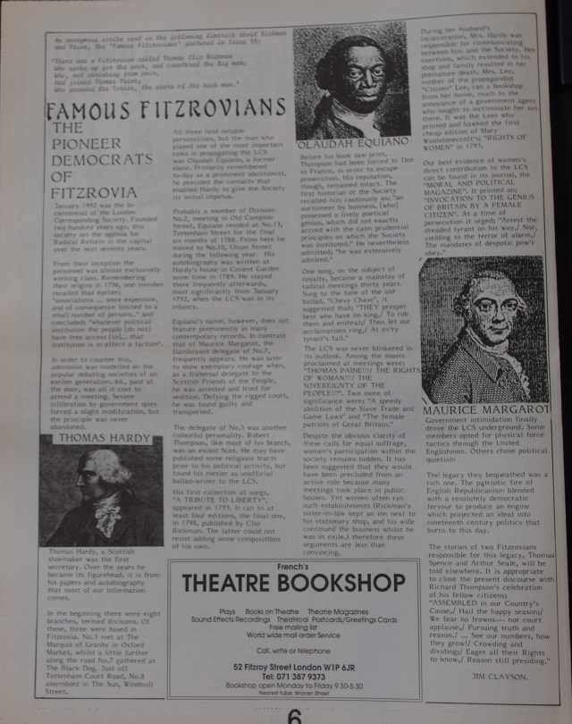 Page 6 Fitzrovia News no 56 March 1992
