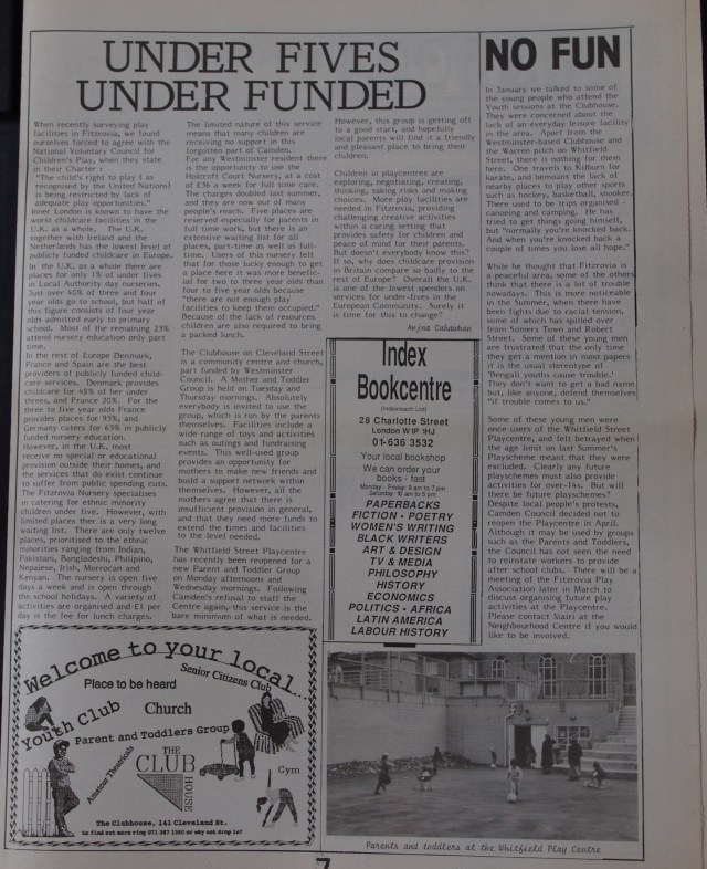 Page 7 Fitzrovia News no 56 March 1992