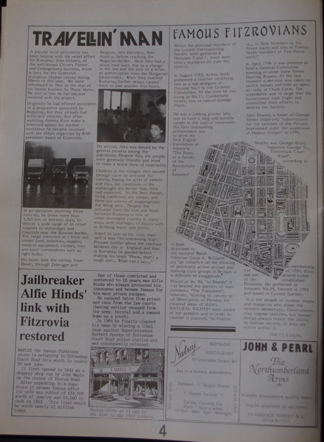 Page 4 Fitzrovia News no 57 June 1992
