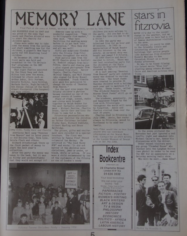 Page 5 Fitzrovia News no 57 June 1992