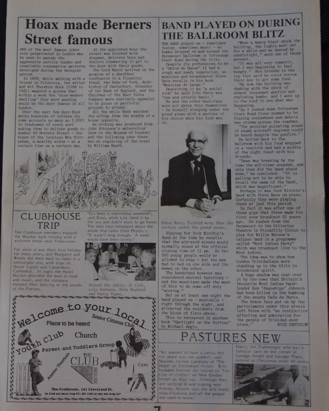 Page 7 Fitzrovia News no 57 June 1992