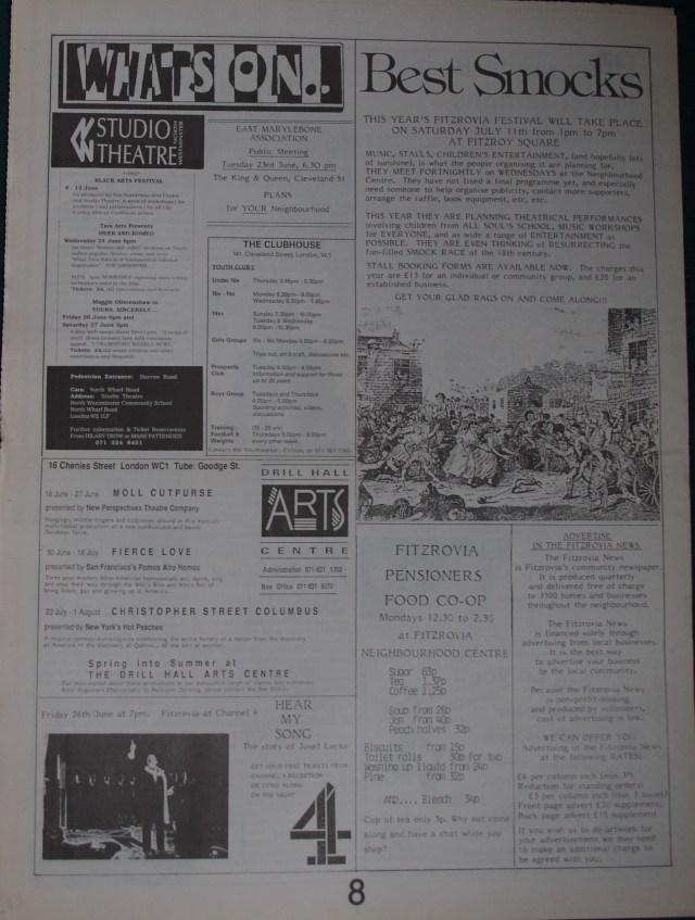 Page 8 Fitzrovia News no 57 June 1992