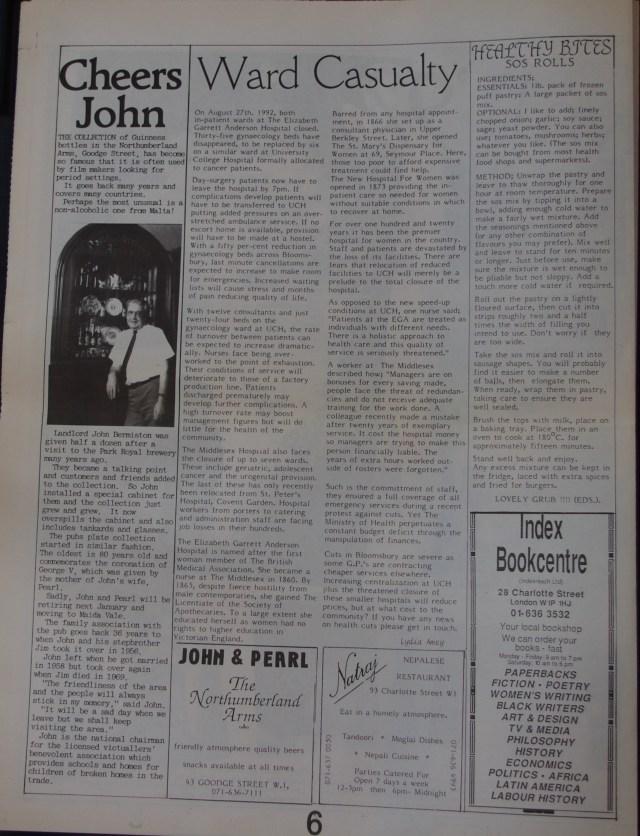 Page 6 Fitzrovia News no 58 September 1992