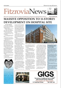 Front page with new building.