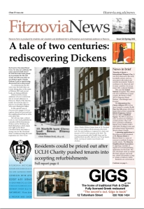 Front page showing Dickens' house.