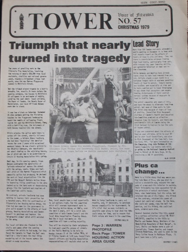 Front Page Tower Community Newspaper no 57 December 1979