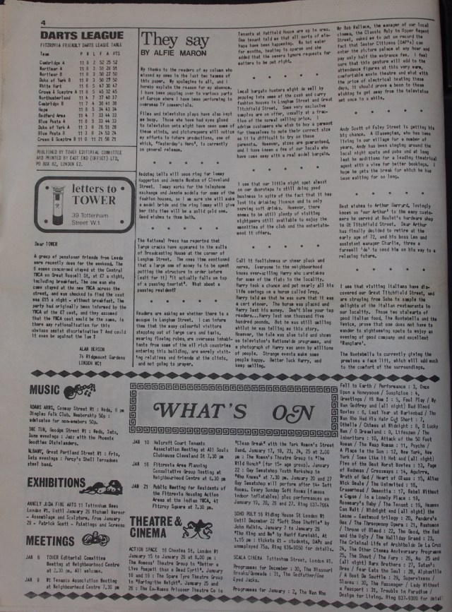 Page 4 Tower Community Newspaper no 57 December 1979