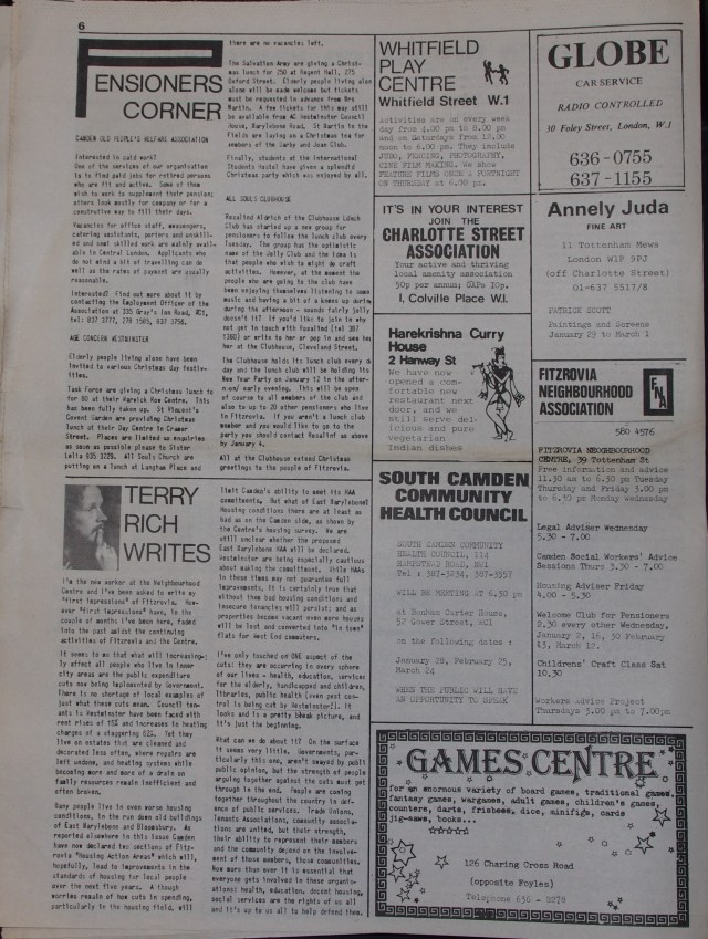 Page 6 Tower Community Newspaper no 57 December 1979