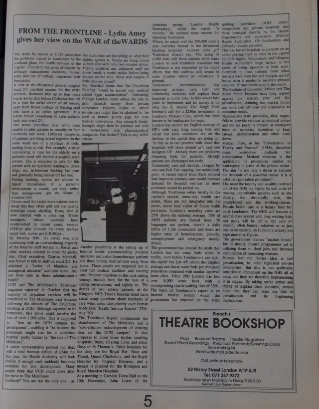 Page 5 Fitzrovia News no 59 December 1992