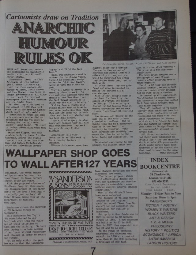Page 7 Fitzrovia News no 59 December 1992
