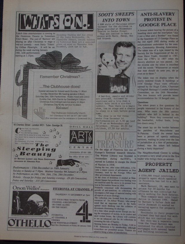 Page 8 Fitzrovia News no 59 December 1992