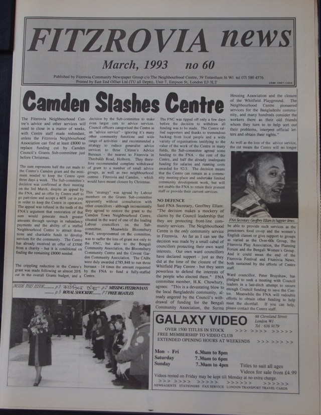 Page 2 Fitzrovia News no 60 1993