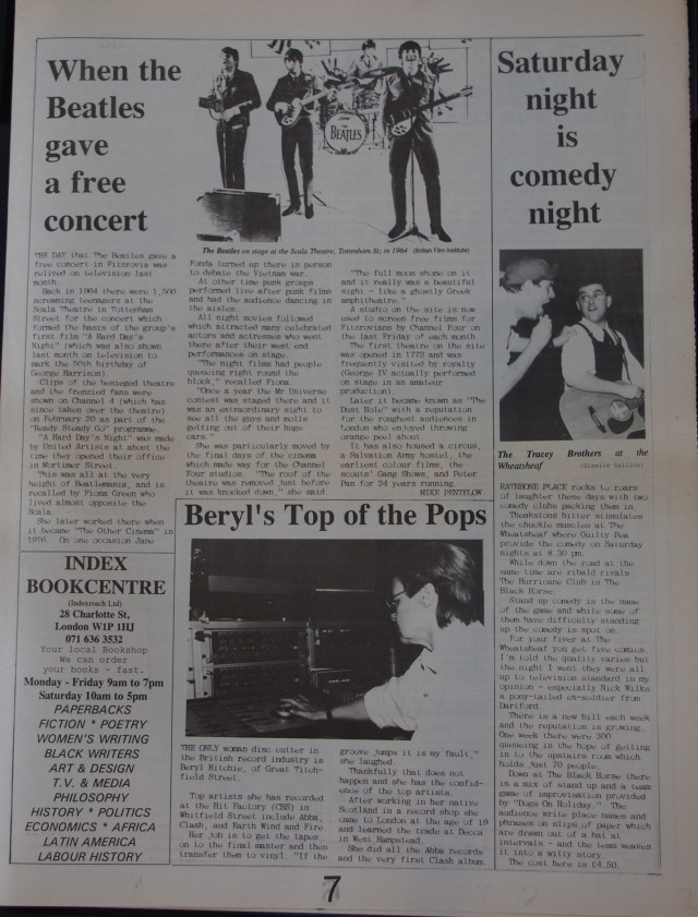 Page 7 Fitzrovia News no 60 March 1993