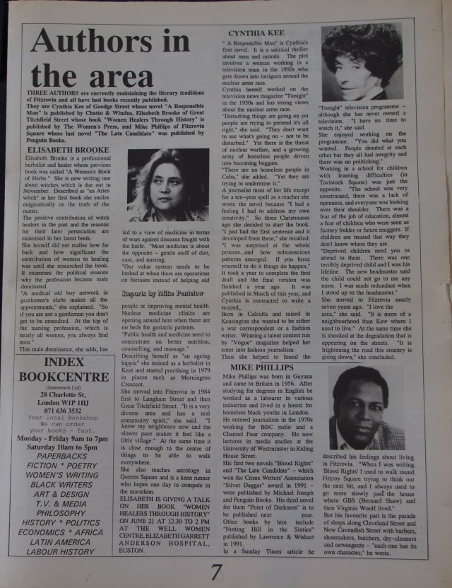 Page 7 Fitzrovia News no 61 June 1993