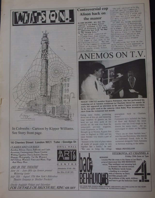 Page 8 Fitzrovia News no 61 June 1993