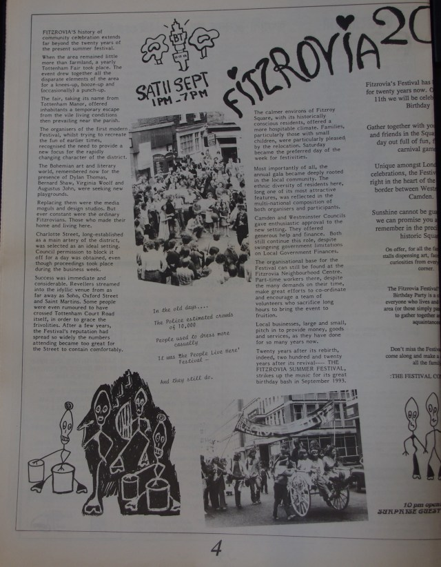 Page 4 Fitzrovia News no 62 September 1993