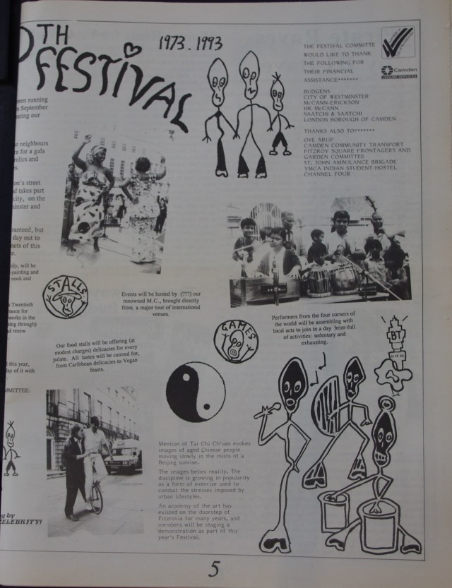 Page 5 Fitzrovia News no 62 September 1993