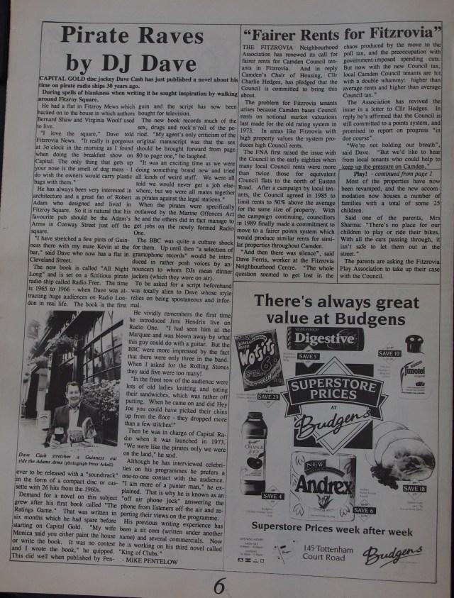 Page 6 Fitzrovia News no 62 September 1993