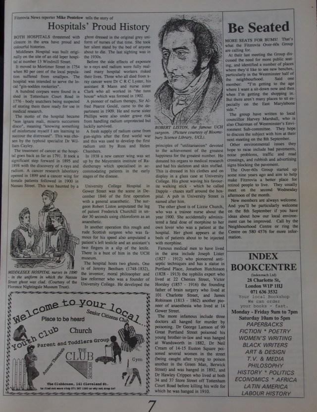 Page 7 Fitzrovia News no 62 September 1993