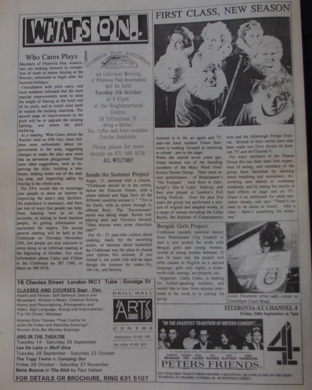 Page 8 Fitzrovia News no 62 September 1993