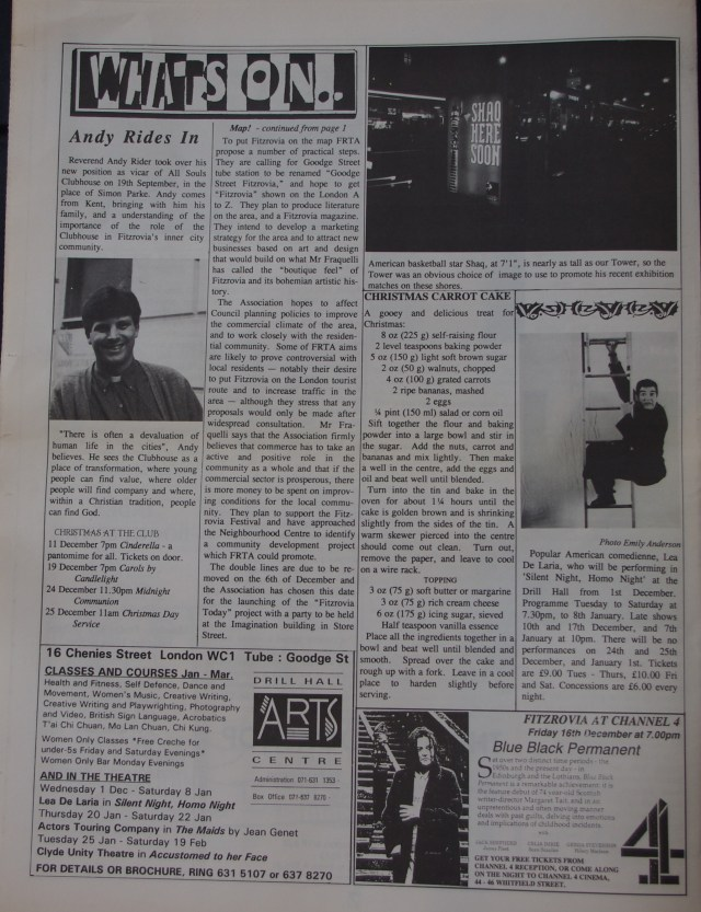 Page 8 Fitzrovia News no 63 December 1993