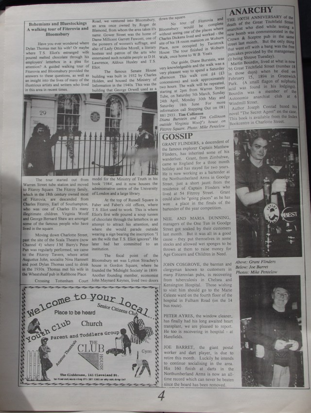 Page 4 Fitzrovia News no 64 March 1994