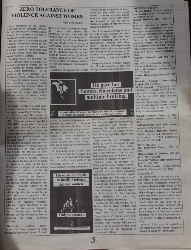 Page 5 Fitzrovia News no 64 March 1994