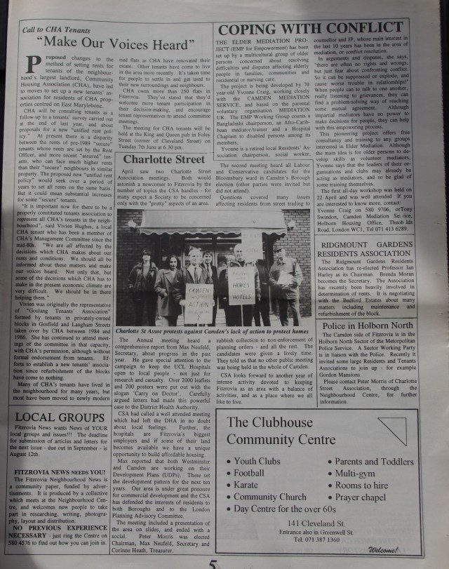 Page 5 Fitzrovia News no 65 June1994