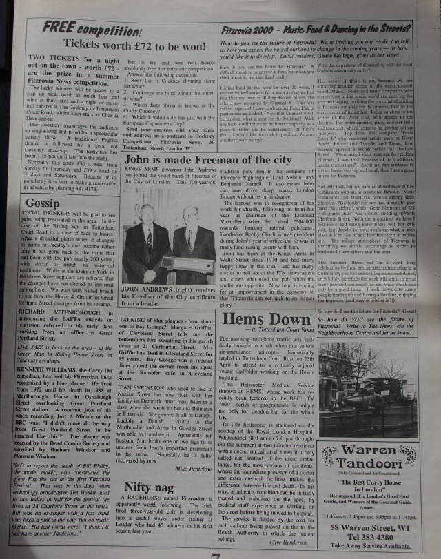 Page 7 Fitzrovia News no 65 June1994