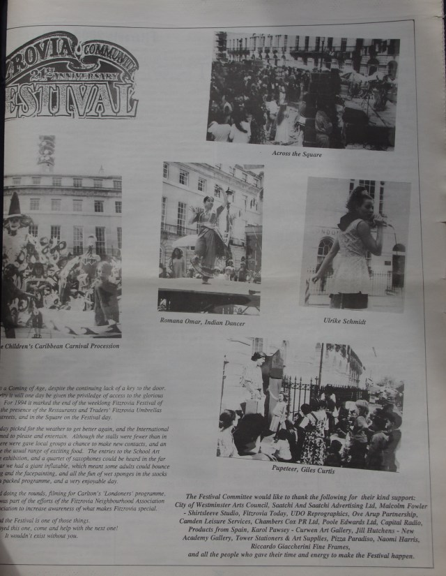 Page 5 Fitzrovia News no 66 September 1994