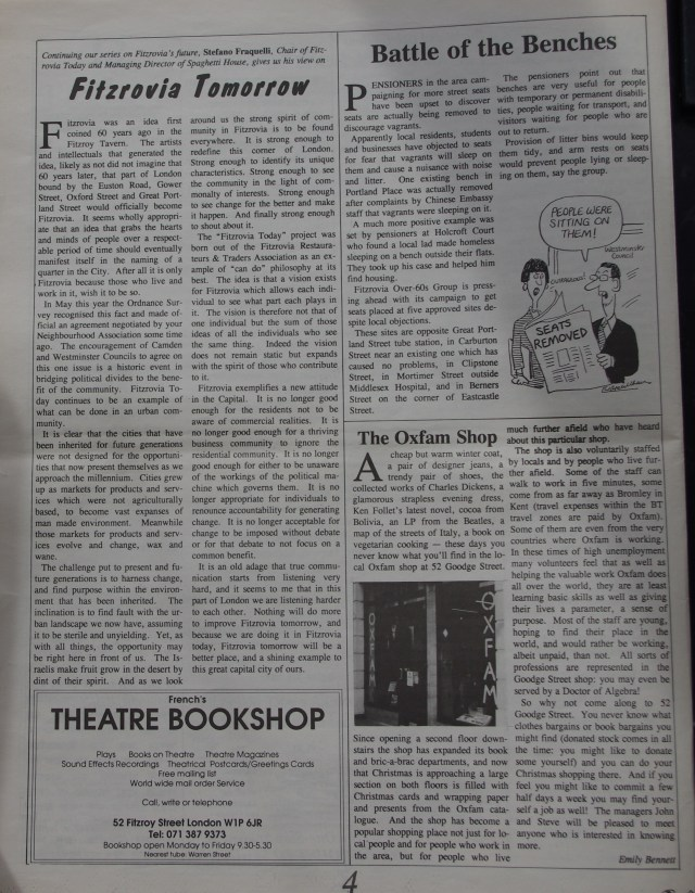 Page 4 Fitzrovia News no 67 December 1994