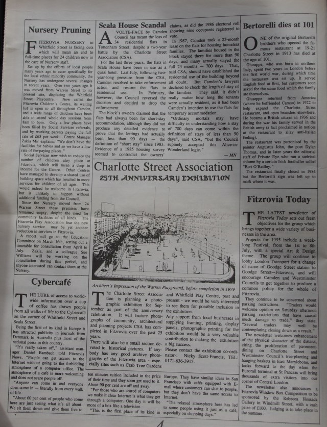 Page 4 Fitzrovia News no 68 March 1995
