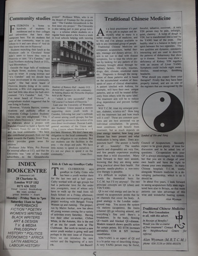 Page 5 Fitzrovia News no 68 March 1995