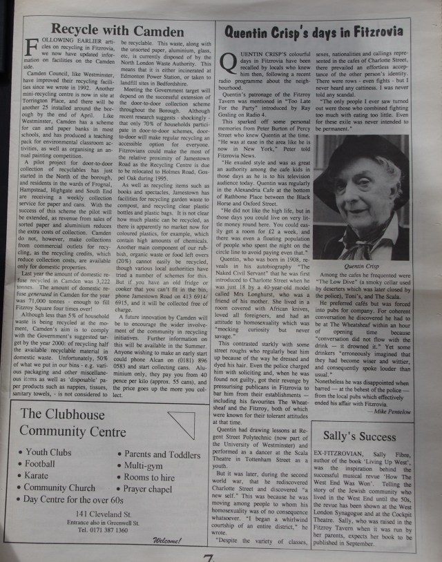 Page 7 Fitzrovia News no 68 March 1995