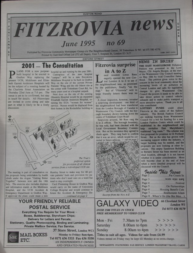 Front Page  Fitzrovia News no 69 June 1995