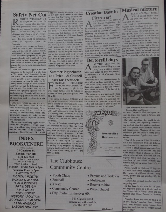 Page 6 Fitzrovia News no 69 June 1995