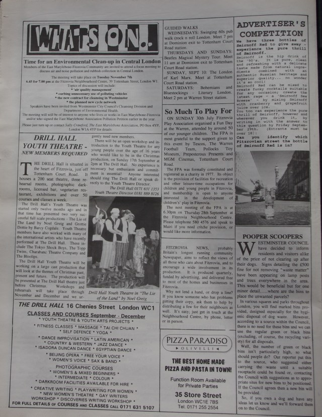 Page 8 Fitzrovia News no 70 September 1995
