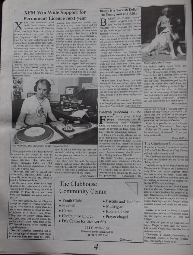 Page 4 Fitzrovia News no 71 December 1995