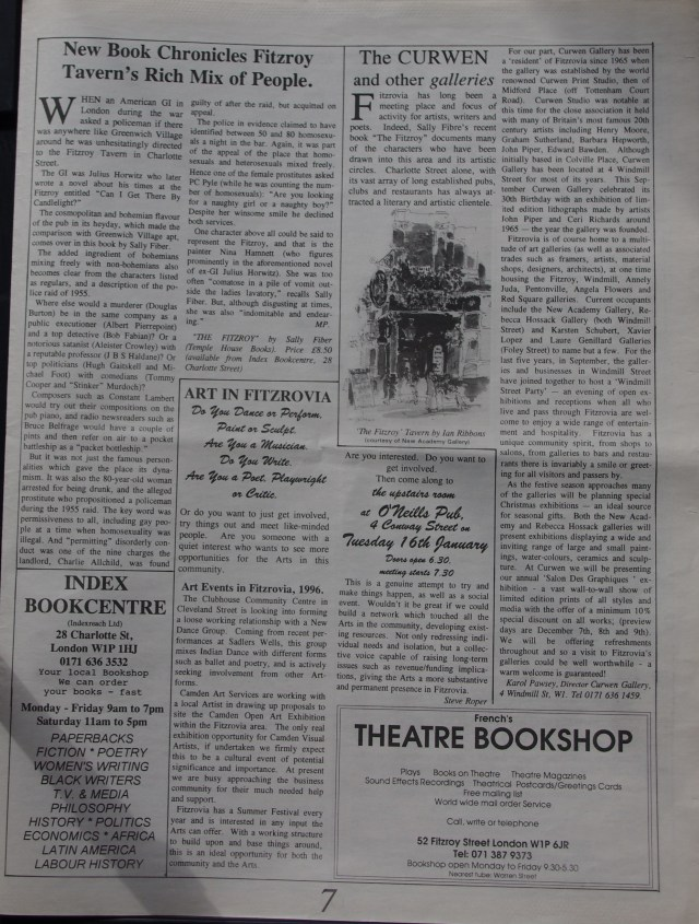 Page 7 Fitzrovia News no 71 December 1995