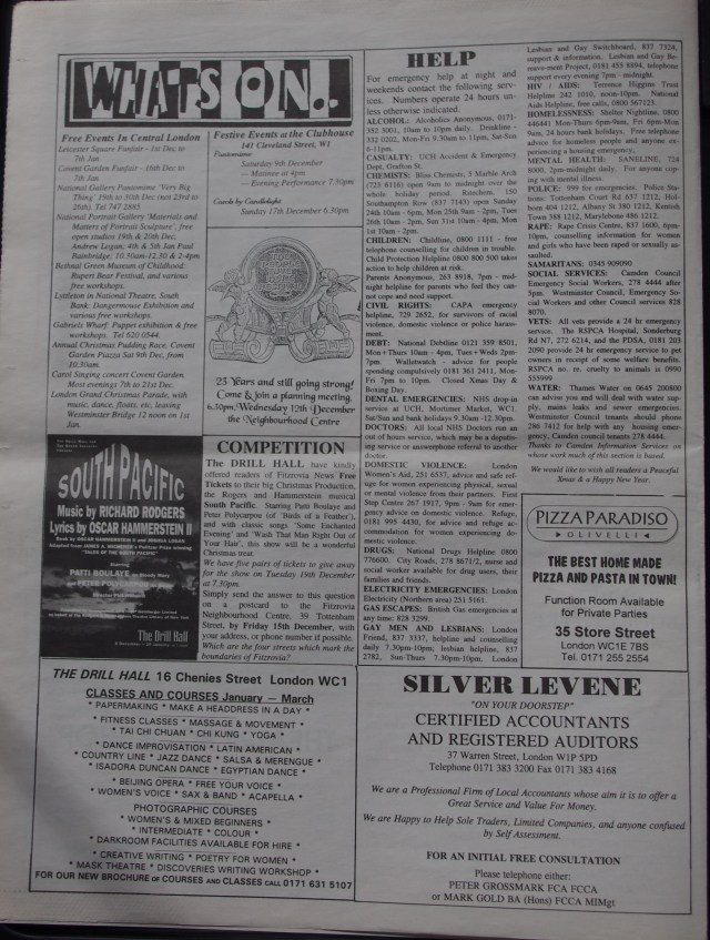 Page 8 Fitzrovia News no 71 December 1995