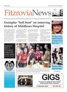 Front page of Fitzrovia News, FN132