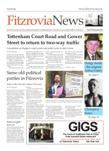 Front page of Fitzrovia News no 133