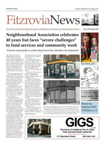 Fitzrovia News, June 2015, front page.