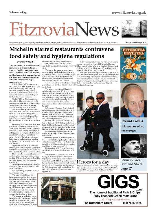 Fitzrovia News, winter 2015.