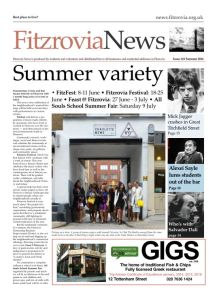 Front page of Fitzrovia News, FN141.