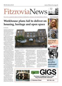 Front page of Fitzrovia News FN144.
