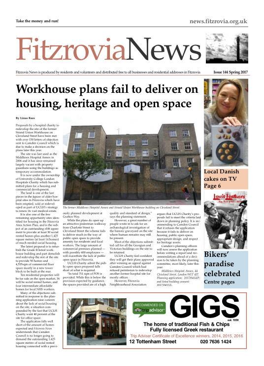 Fitzrovia News, Spring 2017.