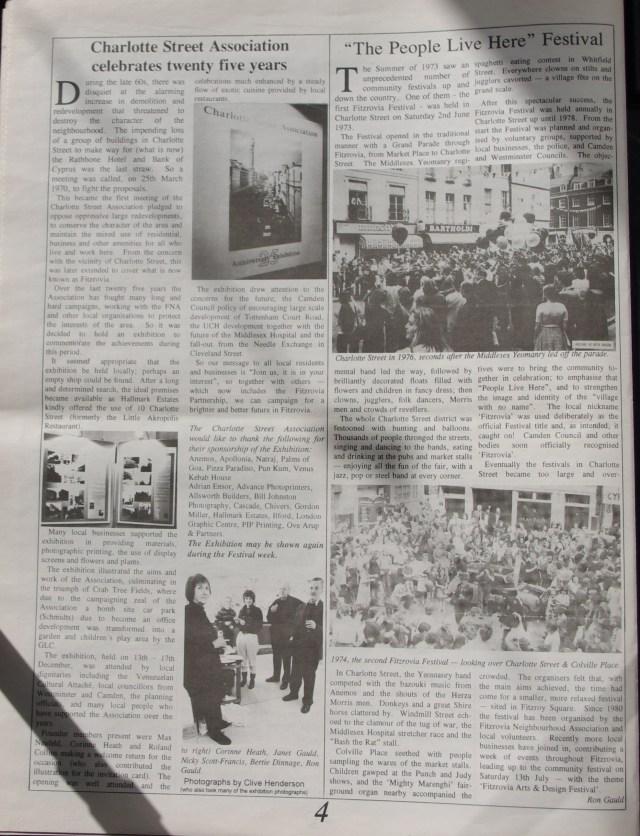 Fitzrovia News March 1996.